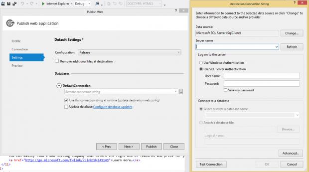 Specify SQL Server