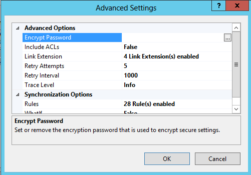 IIS Advanced Settings