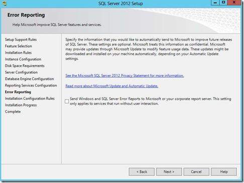 8 -SQL Server Error reporting