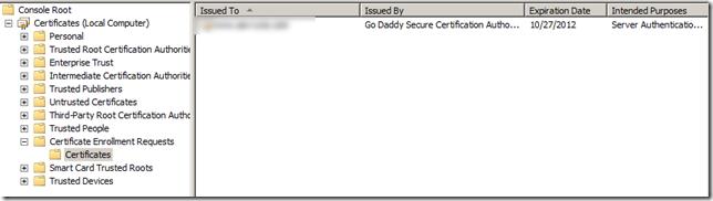 Certificate Authority - MMC Utility
