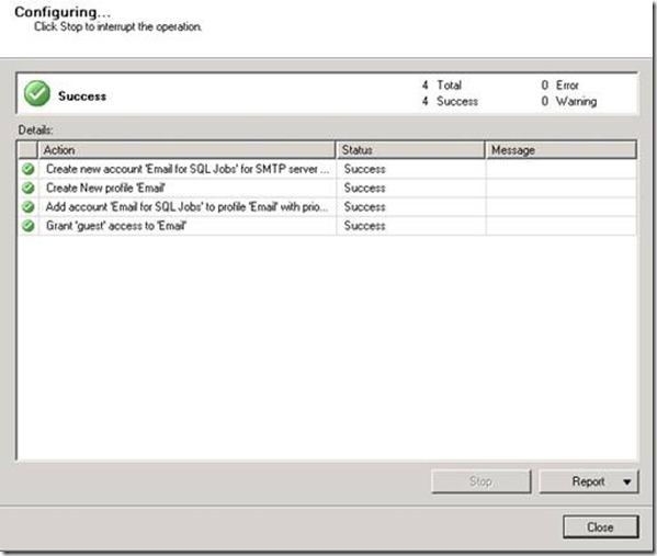 Configuration Complete Test