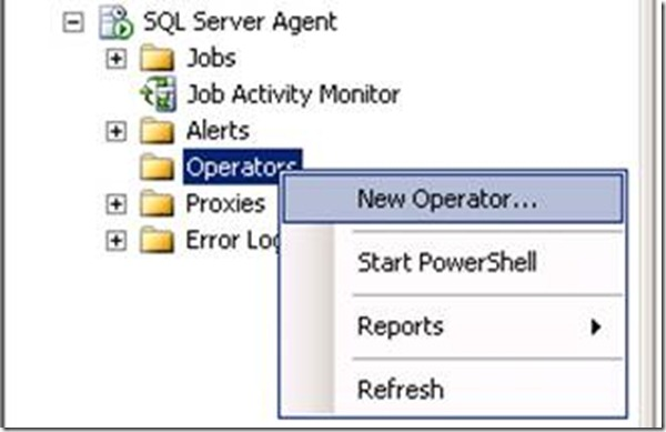 SQL Server Agent Operator