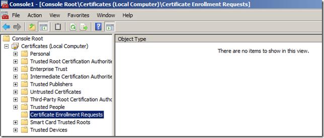 Certificate Enrollment Requests - MMC Utility