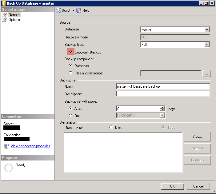 Backup Database Master