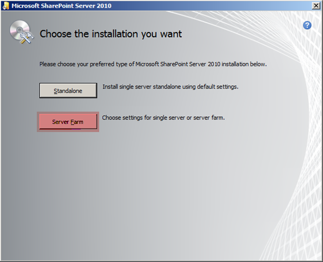Microsoft Sharepoint Server 2010 Installer