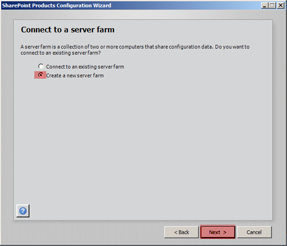 Sharepoint 2010 Connect to Server Farm