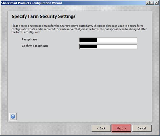 Sharepoint Farm Security Settings