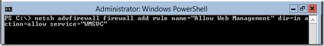 Windows Firewall Rule