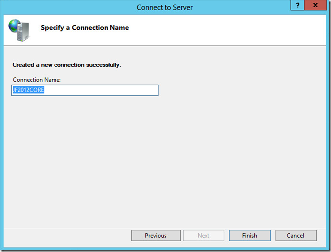 Specify Connection Name