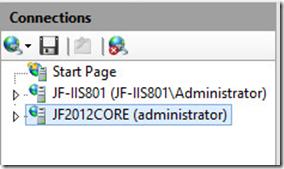 IIS8 on 2012 Server Core