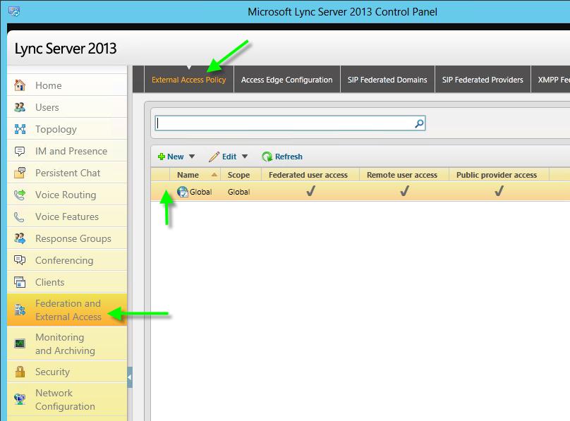 Microsoft Lync Server 2013 Control Panel