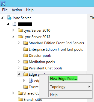 Topology Builder - New Edge Pool
