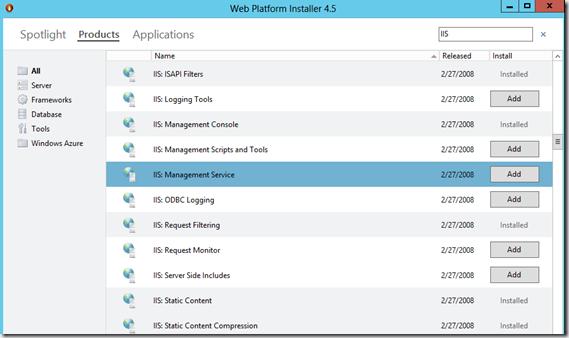 Web Platform Installer 4.5