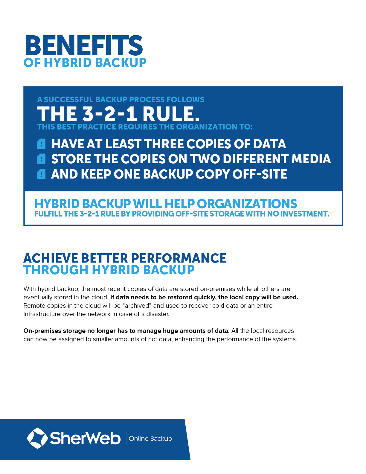 A hybrid approach is the perfect dr strategy