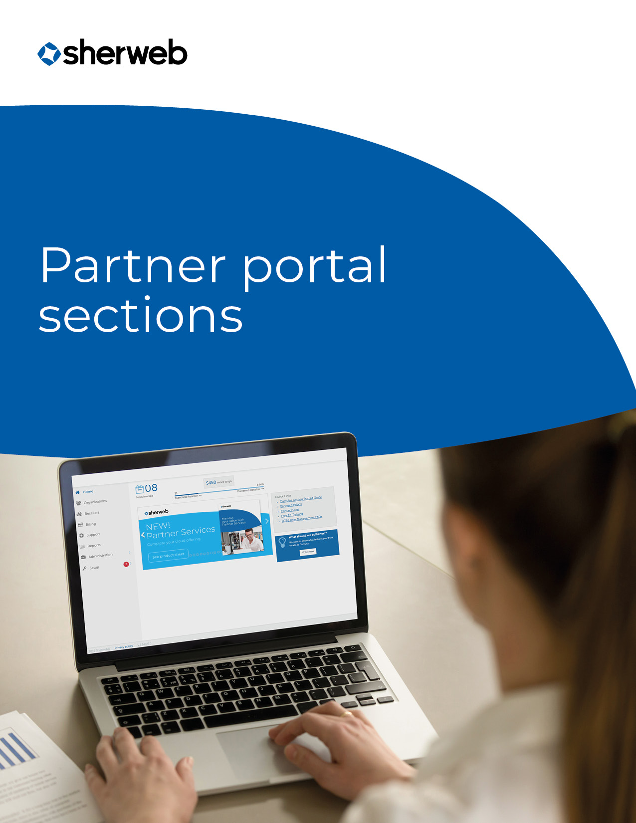 Partner portal sections
