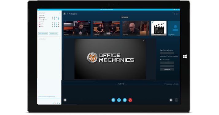 Meeting Broadcast screenshot